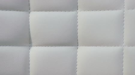 Video shows White leather sofa texture
