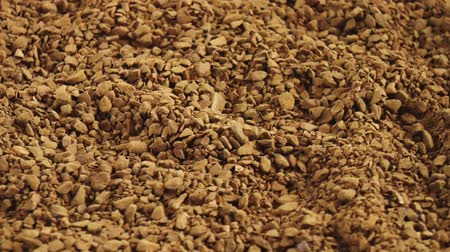 oldódó : Granulated coffee. Drink background. Close up rotation