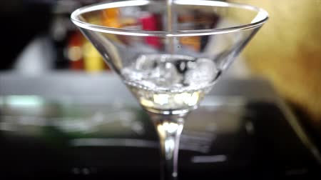 vermouth : a glass of Dry Martini cocktail.