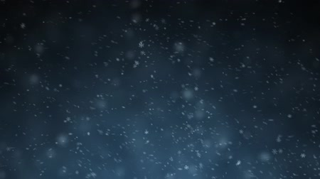 Stock video, Snow Falling. Dense Snowflakes In A Snowstorm. Loop Motion. background holiday winter,
