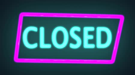 apologize : Closed neon sign. 3d rendering. Seamless loop, Neon advertising Big Discounts,Neon Ticker with Arrow,Big Sale,background, Looped animation Stock Footage