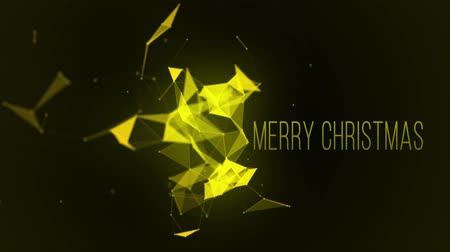 merry christmax abstract plexus triangle loop, Futuristic Technology Molecular Abstract Plexus Background. Christmas and New Year seamless looping animation.