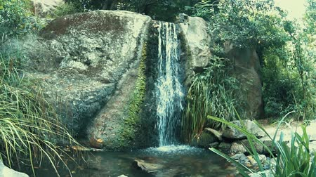 Beautiful waterfall in deep forest or park