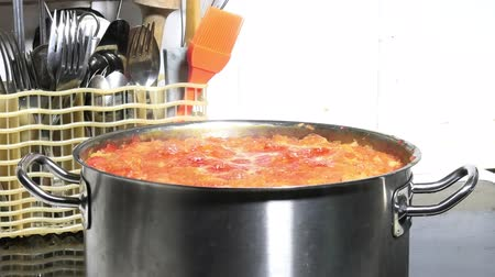 hot pot : cooking pot on the stove