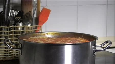 caldo : cooking pot on the stove