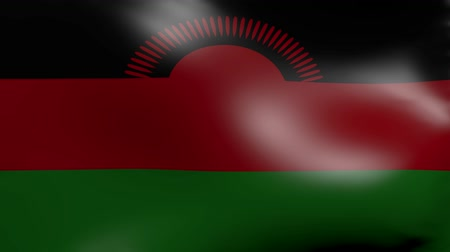 malawi : malawi flag strong wind