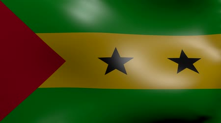 tome : sao tome flag strong wind Stock Footage