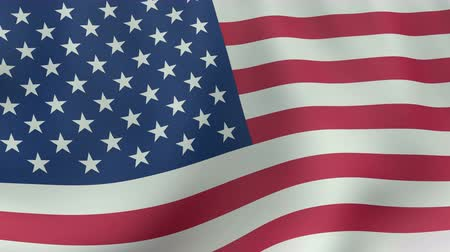 north america : 4K UltraHD Loopable waving American flag animation