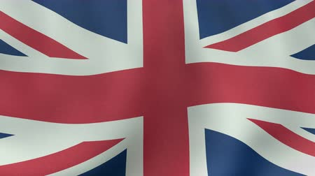 İngilizce : 4K UltraHD Loopable waving British flag animation