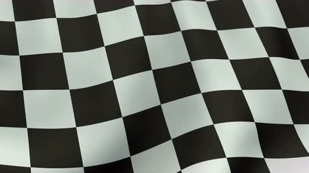 acabamento : 4K UltraHD Loopable waving checkered flag animation