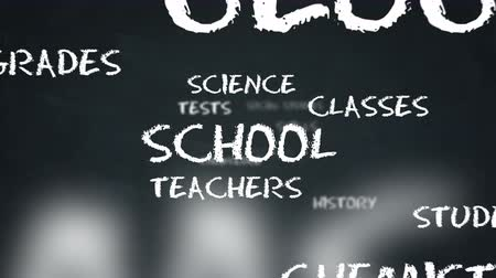motivasyonel : Motivational word cloud about school