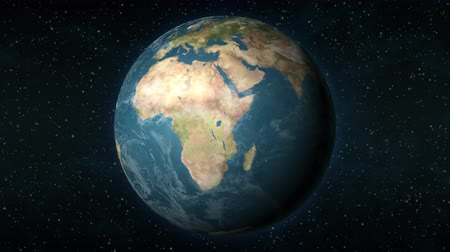 madagaskar : Planet Earth, seen from space, zooming in and centering on the African continent.