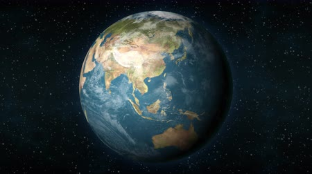gobi : Planet Earth, seen from space, zooming in and centering on the Asian continent. Stock Footage