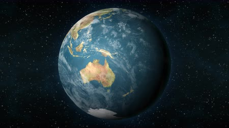 tasmania : Planet Earth, seen from space, zooming in and centering on the Australian continent. Stock Footage