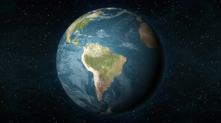 colômbia : Planet Earth, seen from space, zooming in and centering on the South American continent. Vídeos
