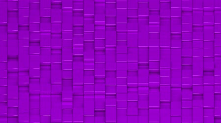 bobbing : Purple cubes moving up and down in a random pattern. 3D animated motion background loop. Isometric view. Stock Footage