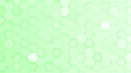 acalmar : Light green hexagons moving up and down in a random pattern. 3D animated motion background loop. Top down isometric view. Stock Footage