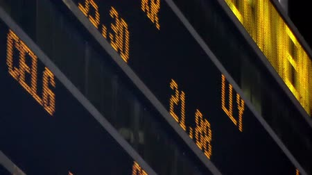 besi : Stock Market LED Ticker Board Stok Video