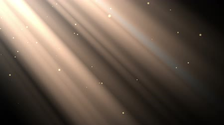 ışınları : Looping animation with light rays and dust particles over black background