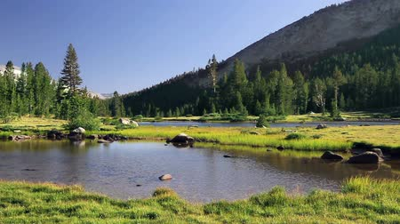 modrá obloha : A beautiful lake and mountain scene off of Tioga Pass in Yosemite National Park