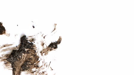 bahno : A dynamic texture of mud spots and smears over a white background. Composite this over your footage or use for transitions to give your footage a grunge style.