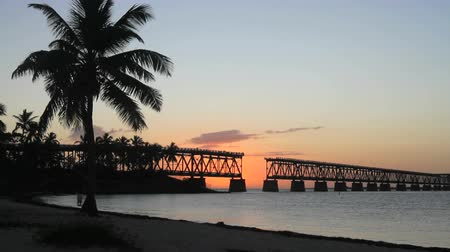 chaves : The historical bridge at Bahia Honda State Park in the Florida Keys at sunset
