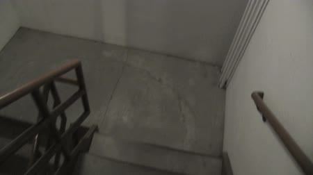 zábradlí : 1st person perspective while descending a building stairwell. Shot with stabilizing Glidecam.