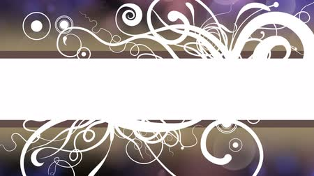 An animated background for your text with a white bar appearing in front of an explosive burst of vines and flourish elements growing out of the bar Dostupné videozáznamy