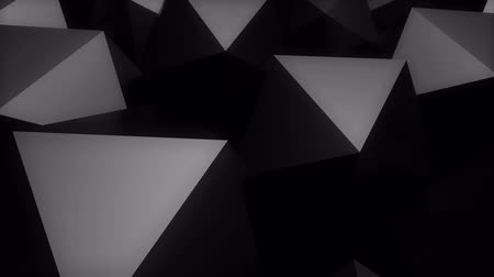 prospective : Abstract background with black Platonic. Stock Footage