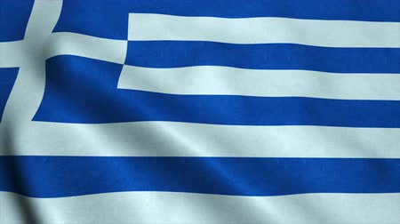 görögország : Realistic Ultra-HD flag of the Greece waving in the wind. Seamless loop with highly detailed fabric texture. Loop ready in 4k resolution. Stock mozgókép