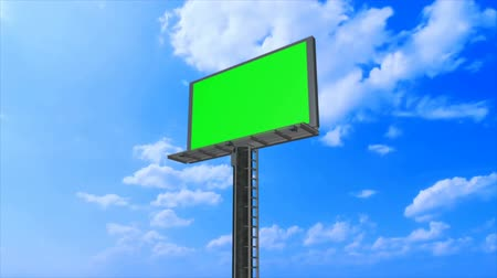 billboards : Advertising billboard high in the sky