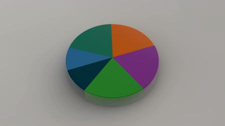 turta : Circle diagram for presentation, Pie chart. 3D rendered