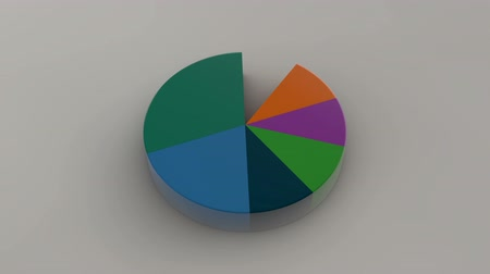 infografik : Circle diagram for presentation, Pie chart. 3D rendered