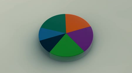 prezentaci : Circle diagram for presentation, Pie chart. 3D rendered
