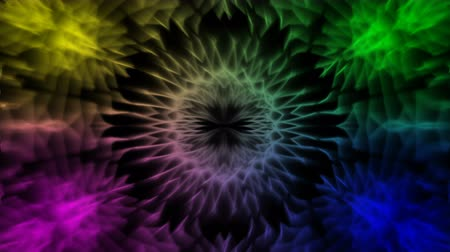 salya : Looping kaleidoscope sequence. Abstract motion graphics background