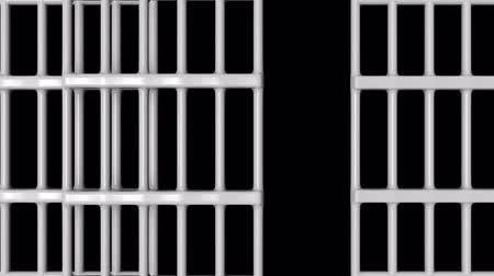 lawbreaker : Animation of Closed Jail bars. HQ Video Clip