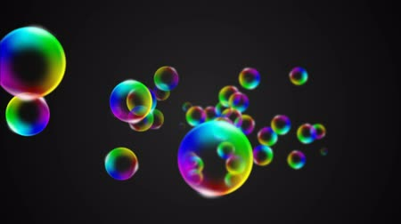 bubbles soap : Colorful Soap Bubble animation. Seamless loop Stock Footage