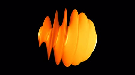 elementler : Abstract swirl 3D element. Seamless loop Stok Video