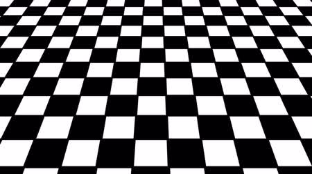 xadrez : Virtual floor chess background. Seamless loop