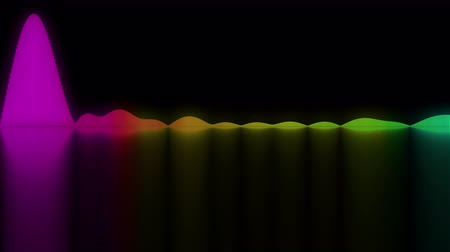 ekolayzer : Colorful sound waves. Good background for audio concepts Stok Video