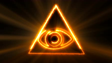 masonic : Abstract background with The Eye of Providence. Seamless loop digital backdrop. 3d rendering