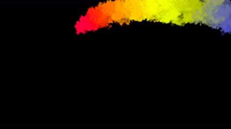 cores vibrantes : Cg animation of colorful smoke. 3d rendering background