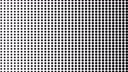 doted : Dynamic black and white composition. Halftone element. Seamless loop Stock Footage