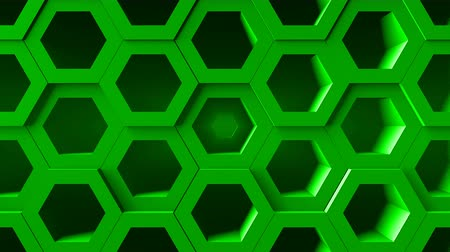 conductivity : Abstract background with honeycomb. Digital backdrop. Seamless loop Stock Footage