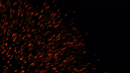 çatırtı : Abstract backdrop with fire sparks isolated on black background. 3d rendering