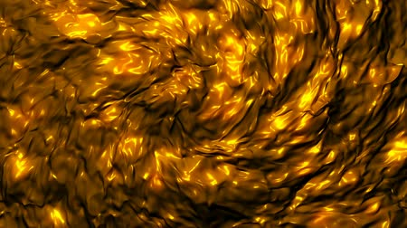 sheen : Abstract golden fabric waving. Seamless loop Stock Footage
