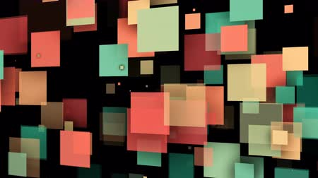 dinamic background : Abstract background with colorful rectangles. Seamless loop Stock Footage