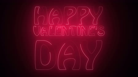 szentimentális : Happy Valentines Day Text in neon. 3d rendering