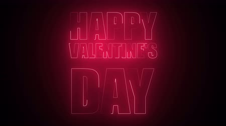 curto : Happy Valentines Day Text in neon. 3d rendering