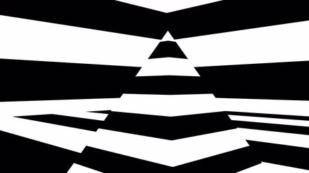vertical stripes : Abstract background with black and white stripes. Seamless loop Stock Footage